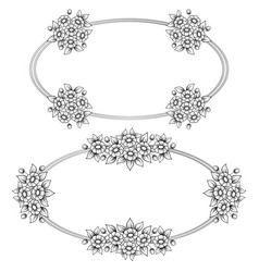 daisy flowers ellipse frames vector image