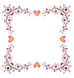 decorative frame with hearts 2 vector image