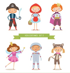 Different kids costumes vector