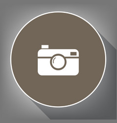 digital photo camera sign white icon on vector image