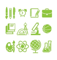 education school symbol collection vector image