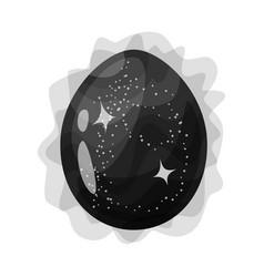 Egg and dragon sign vector