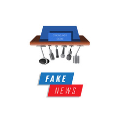 fake news banner isolated on white background vector image