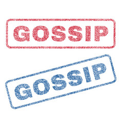 Gossip textile stamps vector