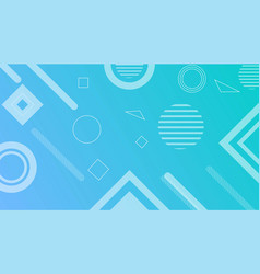 Gradient blue abstract shape background vector