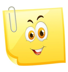 Happy face on yellow face vector image