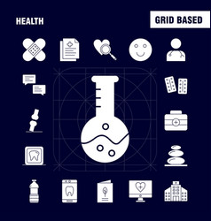 health solid glyph icon for web print and mobile vector image