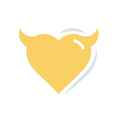 Heart of devil love flat icon vector