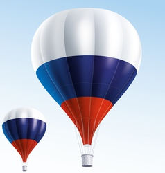 Hot balloons painted as Russian flag vector