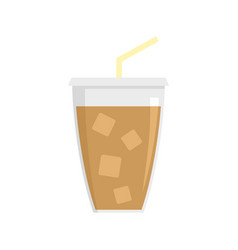 ice cappuccino icon flat style vector image