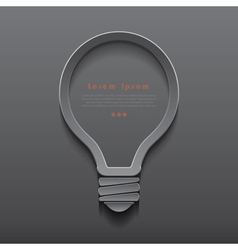 Idea light bulb icon banner template vector