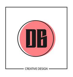 Initial letter db logo template design vector