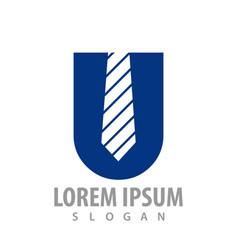 initial letter u tie concept design symbol vector image