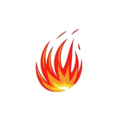 Isolated abstract red and orange color fire flame vector image