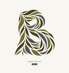 Logo design from petals leaves abstract letter b vector