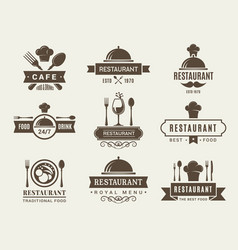 logotypes and badges for restaurant vector image