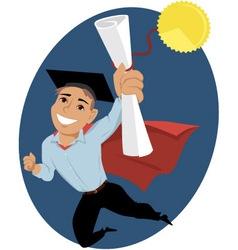 Male college graduate vector image