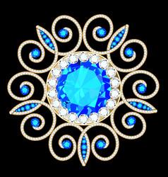 Mandala brooch jewelry design element tribal vector