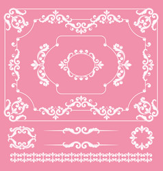 mega set collections vintage design elements vector image