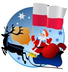 Merry Christmas Poland vector image