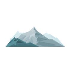 mountain outdoor design element nature landscape vector image vector image