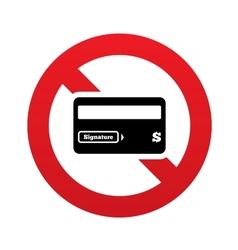 No Credit card sign icon Debit card symbol vector