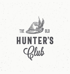 old hunters club abstract sign symbol or vector image