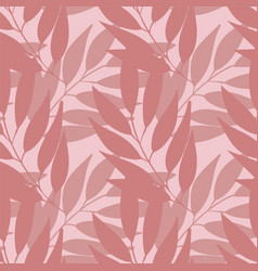 pastel branches with leaves seamless vector image
