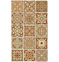 Portuguese azulejo tile set gorgeous geometric vector