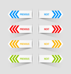 Previous and next buttons vector