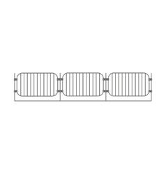 Primitive Barrier Fence Design Element Template vector