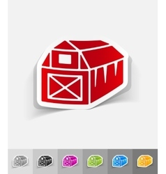 realistic design element barn vector image