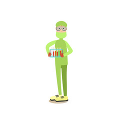 Science people concept in flat vector