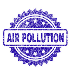 scratched air pollution stamp seal vector image