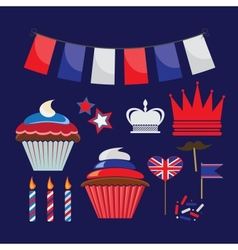 set of icons for United Kingdom party vector image