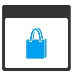 Shopping Bag Calendar Page Toolbar Icon vector