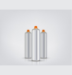 silver spray can for graffiti on a background of vector image