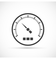 Speedometer icon on white background vector image