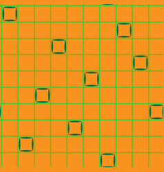 squares in grid chaotic seamless pattern 201 vector image