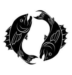 stylized fish vector image