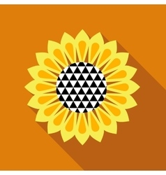 Sunflower icon flat style vector image