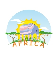 Sunny Elephant vector image