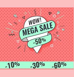 super sale weekend special vector image