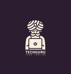 Tech guru logo vector