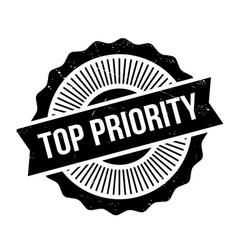 top priority rubber stamp vector image vector image