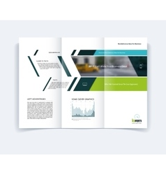 Tri-fold Brochure template layout cover design vector