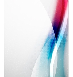 Unusual abstract red and blue wave vector