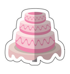 wedding cake sweet dessert vector image