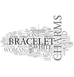 White gold charms text word cloud concept vector