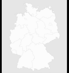 white map germany with borders of the lands vector image